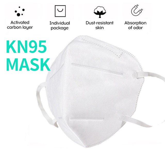 Disposable masks, KN95 masks, dust masks, safety masks, 95% filtered, used for protection against flu from dust particles 4