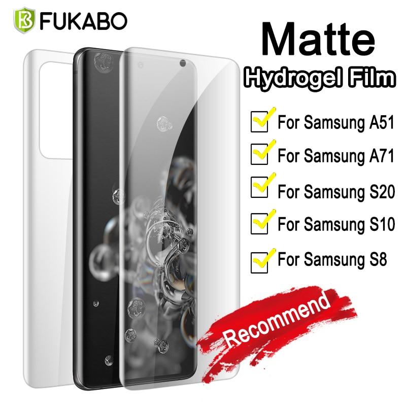 Матовая защитная пленка на весь экран матовое гидрогелевая для Samsung Galaxy Note 20 S20 Ultra S10 10 S9 S 8 Pro Lite 9 S7 A51 A71 A50 A70 Гидрогелевая пленка защитная для ...