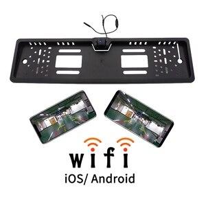 EU 유럽 자동차 와이파이 라이센스 플레이트 프레임 무선 후면보기 카메라 IOS/안드로이드에 대한 방수 역방향 백업 카메라