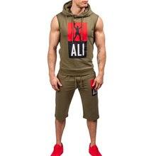 ZOGAA Sport Suit Set Men 2019 Summer Fitness Sport Suits 2PC