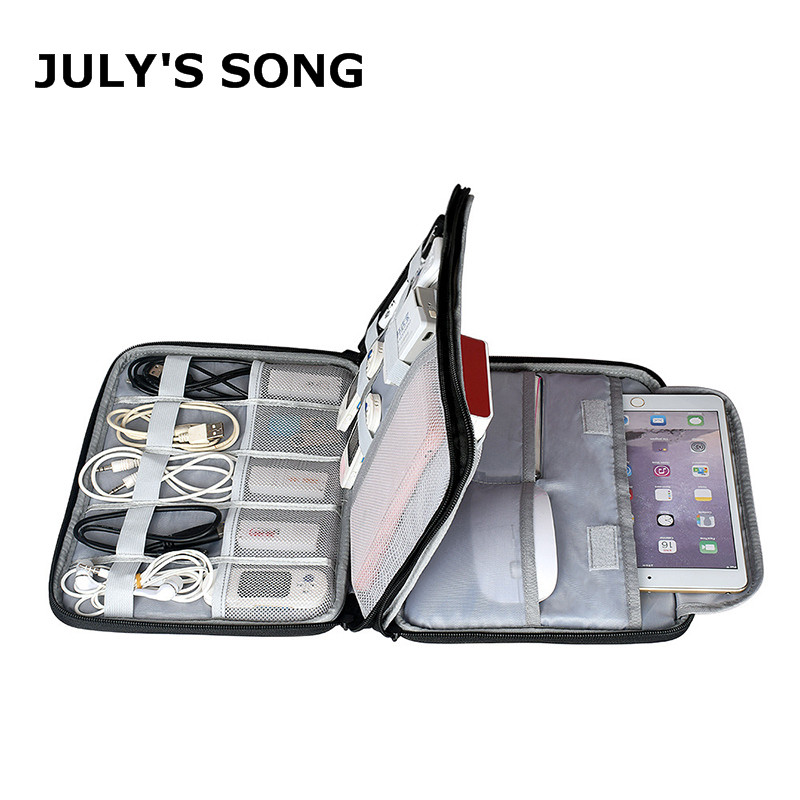 JULY'S SONG Multifunction Digital Storage Bag Portable Cable USB Charger Wire Organizer Power Bank Pouch Case Travel Accessories