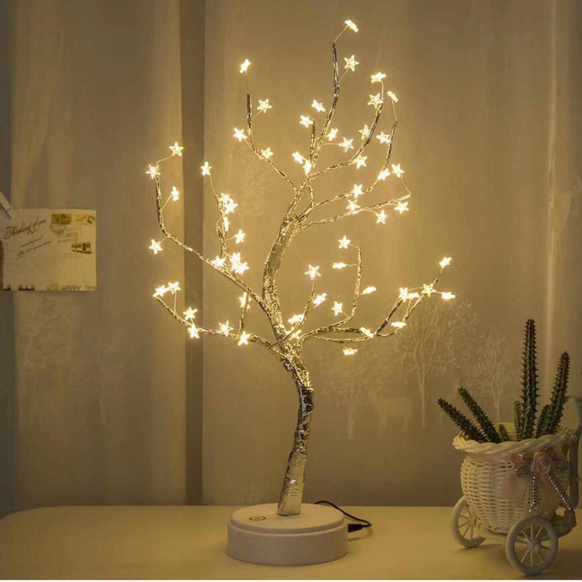 mesa blanco con blancas LED de 60 CARPRIE estrellas lámpara doCxBreW