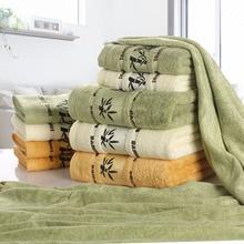Комплект полотенец из бамбукового волокна, домашнее банное полотенце для взрослых, полотенце для лица, толстое Впитывающее роскошное полот...