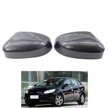 Para ford focus mk2 mk3 capa espelho retrovisor do carro guarnição frente esquerda lado direito bm5117k748aa bm5117k747aa