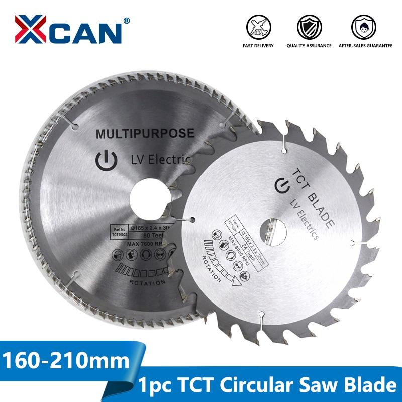 XCAN Circular-Saw-Blade Cutting Diameter-160-210mm Disc-Carbide Woodworking 1pc Tipped