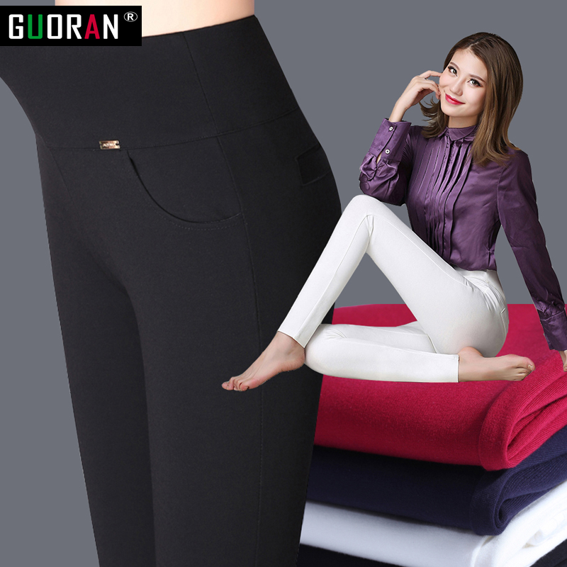 2020 winter warm Women Pencil Pants Candy Color High elasticity Female Skinny pants female trousers Leggings 2