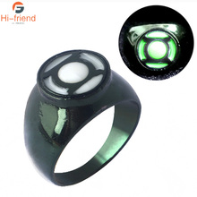 Hot Movie Superhero Green Lantern Hal Jordan Rings Finger Luminous Men Thanos Spilla Xmas Jewelry