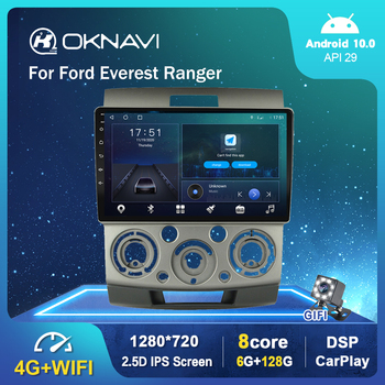 4G WIFI 9 Car Radio For Ford Everest Ranger 2006-2010 Multimedia Video Player Android 10.0 Support Rear View No DVD undefined image