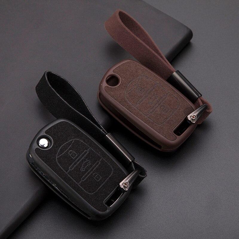 Wysokiej jakości samochód TPU i zamszowe skórzane saszetka na klucze pokrywa dla Baojun BAOJUN 510 310 730 560 akcesoria