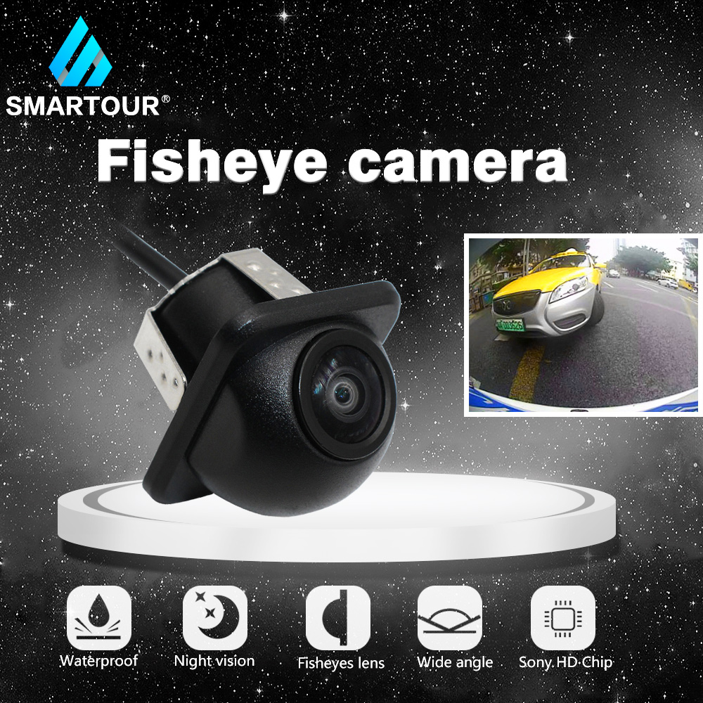 Smartour Car Reversing Camera 170 Degree HD Night Vision Auto  Rear View Fishey Front View  View Camera For Universal Camera
