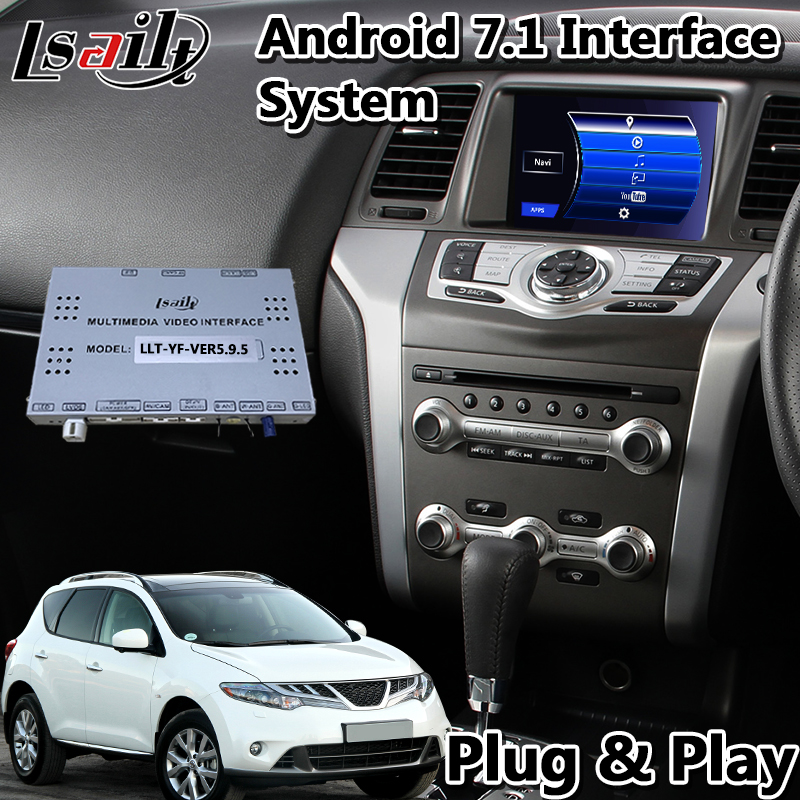 Lsailt Android Car GPS Navigation Interface For Nissan Murano Z51 2011-2014 Year With Wireless Carplay ADAS DVR