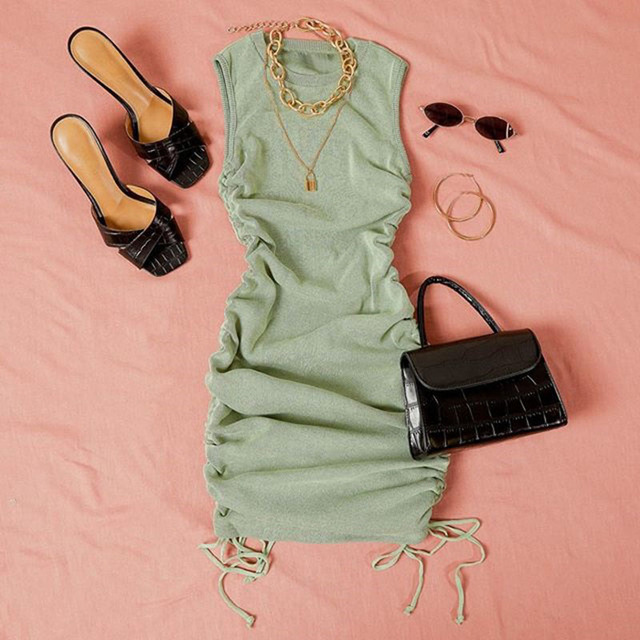 FANTOYE Drawstring Dress 6