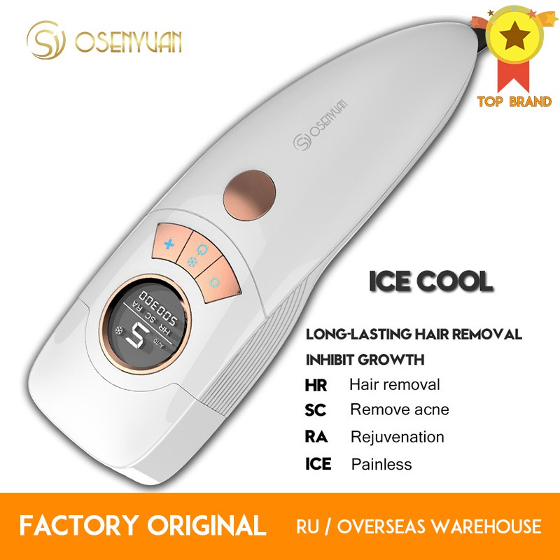 2020 Osenyuan 4in1 Icecool IPL Laser Hair Removal Permanent For Face Body Leg Bikini Electric Depiladora Laser Epilator title=