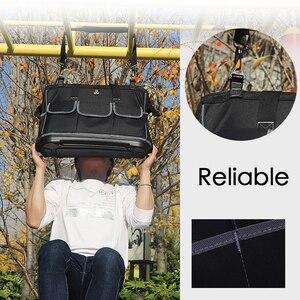 Image 5 - Вместительная сумка для инструментов, органайзер для инструментов, мужская дорожная сумка с ремнем через плечо, гаечный ключ, набор инструментов, плотницкая сумка рюкзак электрика