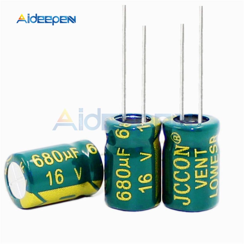 10PCS 16V 680UF 8*12MM Aluminum Electrolytic Capacitor 8x12MM