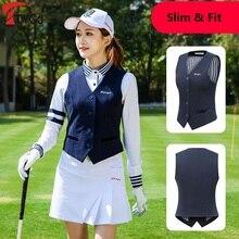 PGM куртка без рукавов для гольфа, жилет для женщин, зима-осень, теплая форменная жилетка для гольфа, ветрозащитная куртка, жилетка для гольфа, D0801
