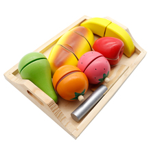Pretend Play wood Food Toy Cutting Fruit  Vegetable Children child toy kitchen educational toys for children