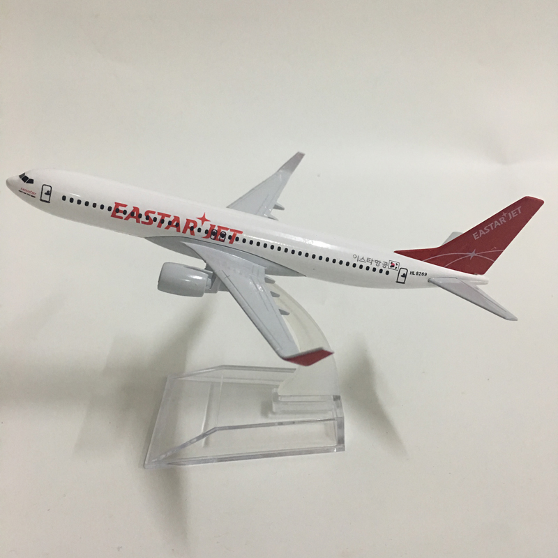 JASON TUTU Eastar Jet Boeing 737 Aircraft Model Diecast Metal Model Airplanes 16cm 1:400 Airplane Model Plane Model Toy Gift