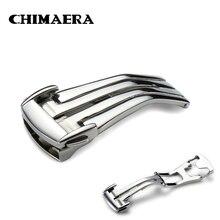 Отполированная застежка для часов CHIMAERA 316L из нержавеющей стали 16 мм 18 мм 20 мм серебристый ремешок для часов Omega