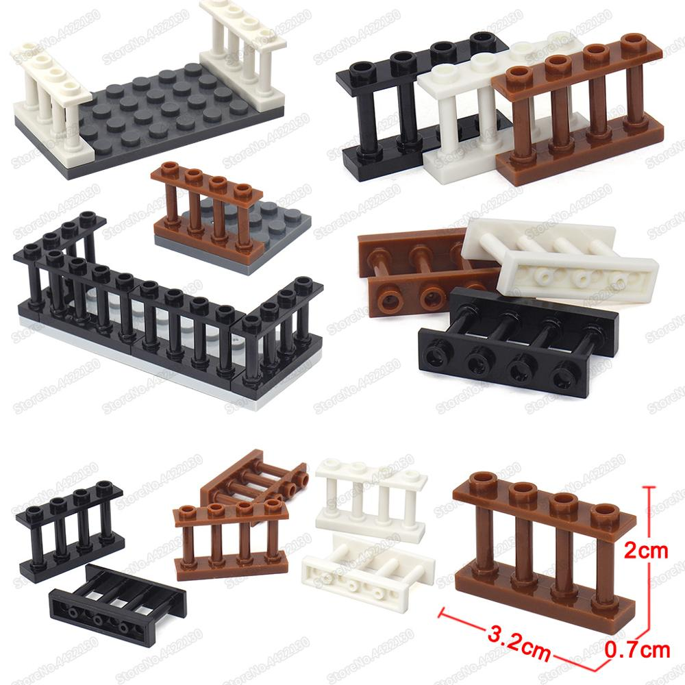 7pcs Military Fence Rail Board Toy Soldier Accessories Railway building kitATAU