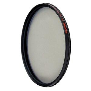 Image 2 - ZOMEI HD 光学ガラス CPL フィルタースリムマルチコート円偏光偏光レンズフィルター 40.5/49/52 /55/58/62/67/72/77/82 ミリメートル
