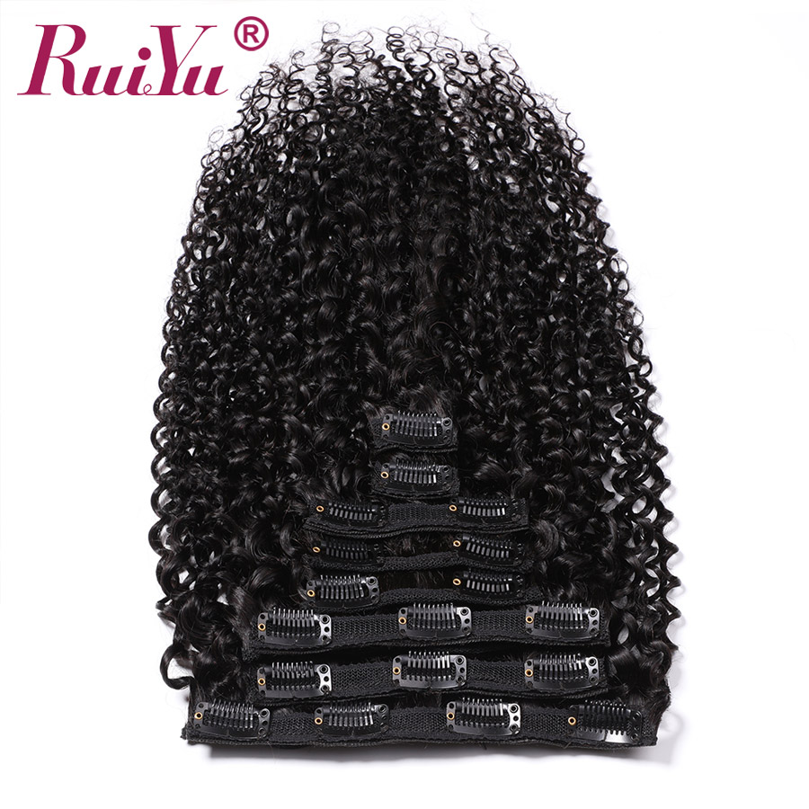 Peruvian Curly Clip Ins Human Hair Extensions Clip In Hair Extensions Remy Natural Hair Clip Ins 8Pc/Set 120g 10-28 Inch