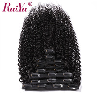 Peruvian Curly Clip Ins Human Hair Extensions Clip In Hair Extensions Remy Natural Hair Clip Ins 8Pc/Set 120g 10 28 Inch