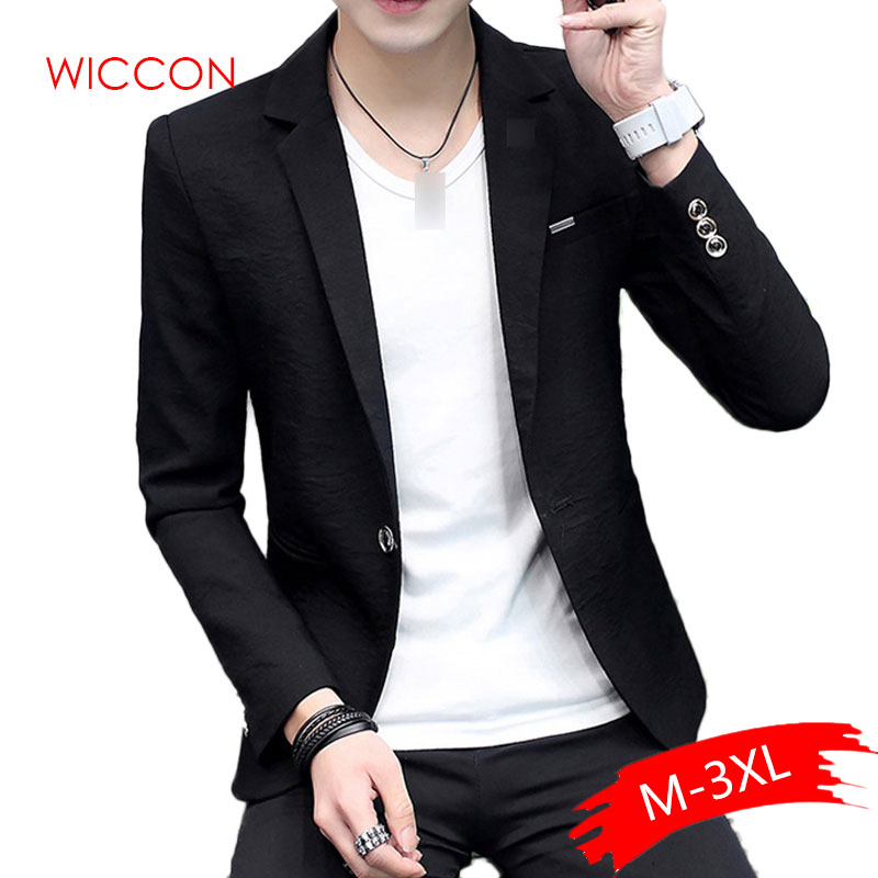 Men's Solid Brand Blazer Male Thin Wild Personality Spring & Summer Solid Color Leisure Blazer