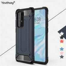 For Huawei P40 Pro Case Cover Fundas Rubber Armor Shell Hard Protective Phone Case For Huawei P40 Pro Cover For Huawei P40 Pro for cover huawei p40 case huawei p40 coque protective stylish smooth skin pc matte ultra thin phone case for huawei p40 cover