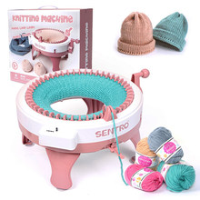 48 Needle DIY Creative Hand-Loom Woolen Knitting Machine Woolen Hat Scarf Socks Artifact Play House Toy Threader Sewing Tool