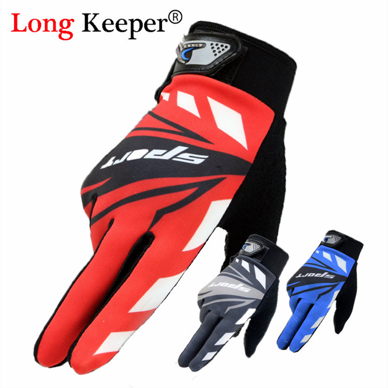 Long Keeper Cycling Gloves Full Finger Touchscreen Men Women MTB Gloves Breathable Summer Mittens Anti-skid Sunscreen Gloves