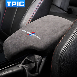 Alcantara Wrap Car Armrest Box Panel ABS Cover M Performance Sticker Decals For BMW F30 3 Series 2013-2019 Interior Accessories
