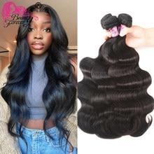 Estensione dei capelli dell'onda del corpo malese di bellezza per sempre 4 pacchi 100% capelli umani di Remy tesse colore naturale da 8-30 pollici trasporto libero