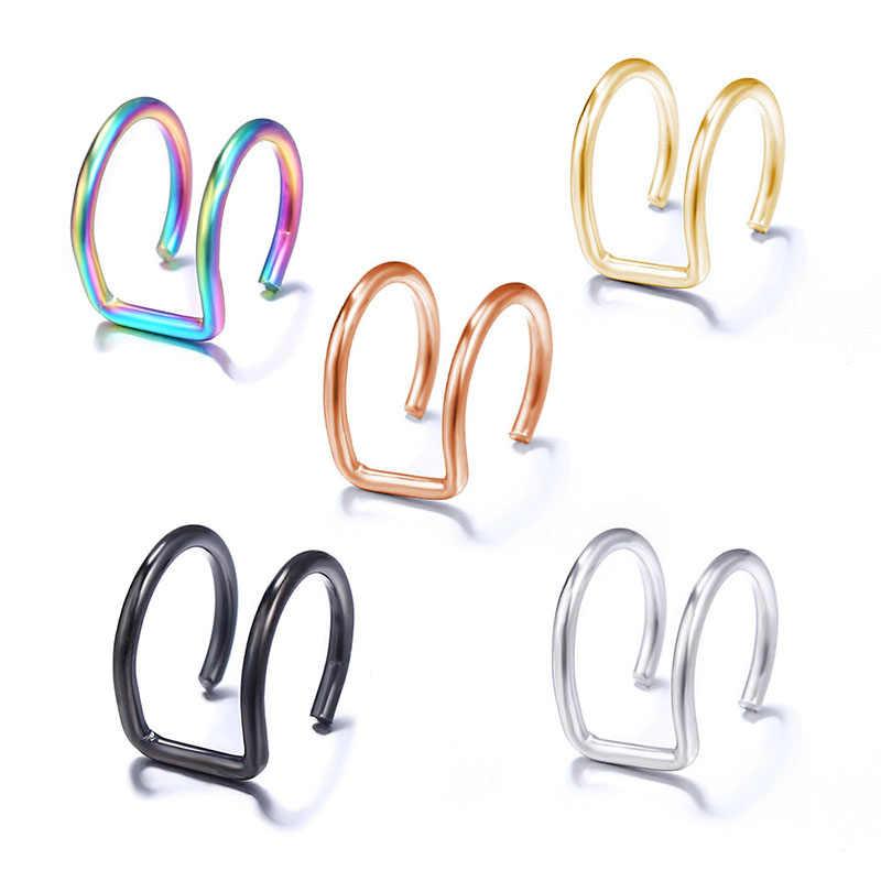 Modyle 5 Pcs/set 2019 Fashion Telinga Manset Emas Manset Telinga Klip Anting-Anting untuk Wanita Pendaki Tidak Tembus Palsu Tulang Rawan anting-Anting