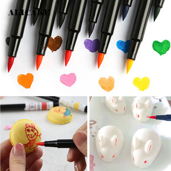 Food Coloring Pens 10 Colours Food Grade Edible Marker Gourmet Writers For Decorating Fondant Cakes Cookies Frosting Easter Eggs synthetic food colours