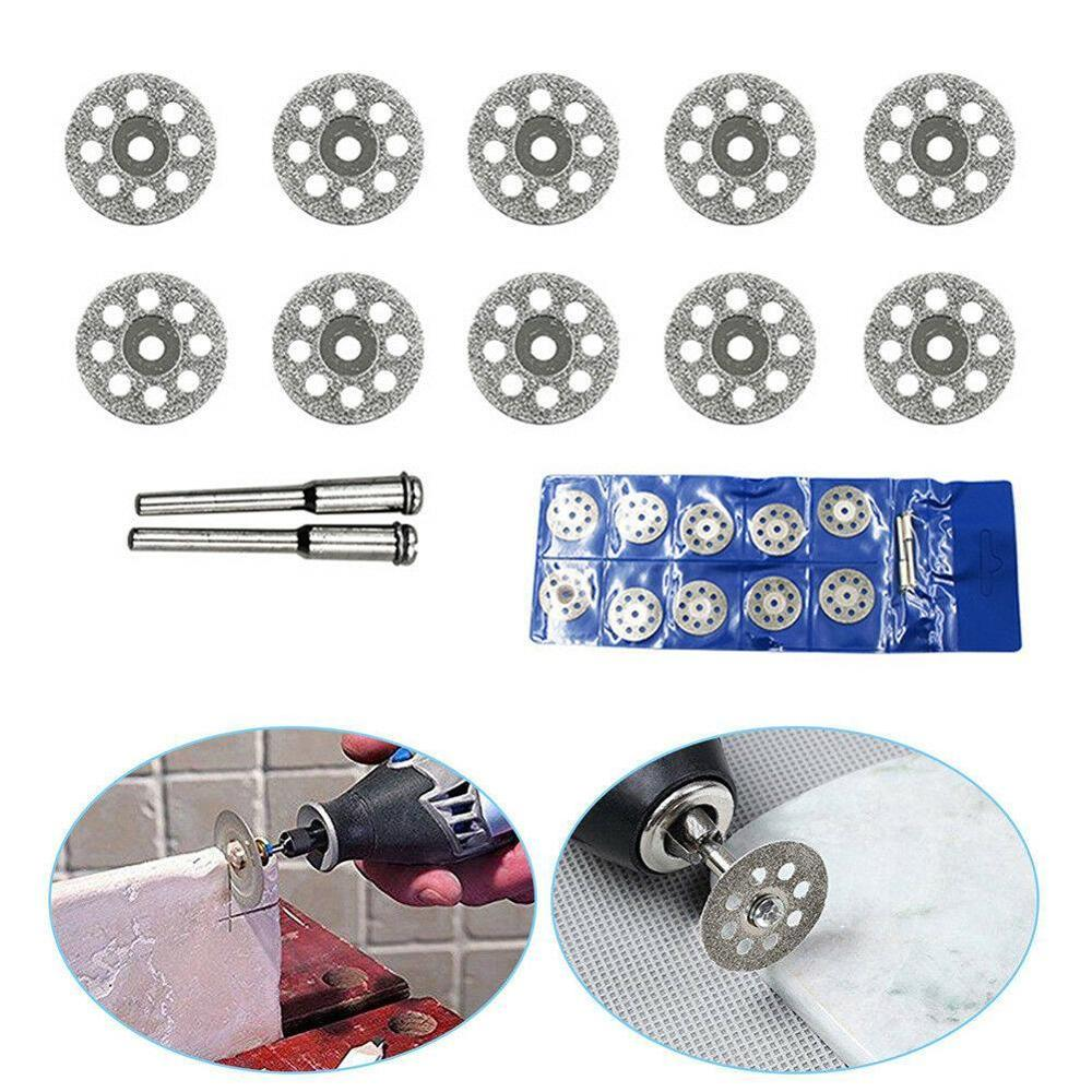 10PCS Diamond Cutting Wheel Saw Blades Cut Off Discs Set For Rotary Tool Diamond Cut Off Wheel Disc Rotary Tool Accessory