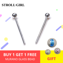 StrollGirl 925 Sterling Silver Simple Stud Earrings For Women Prevent Allergy Fashion Jewelry 2018