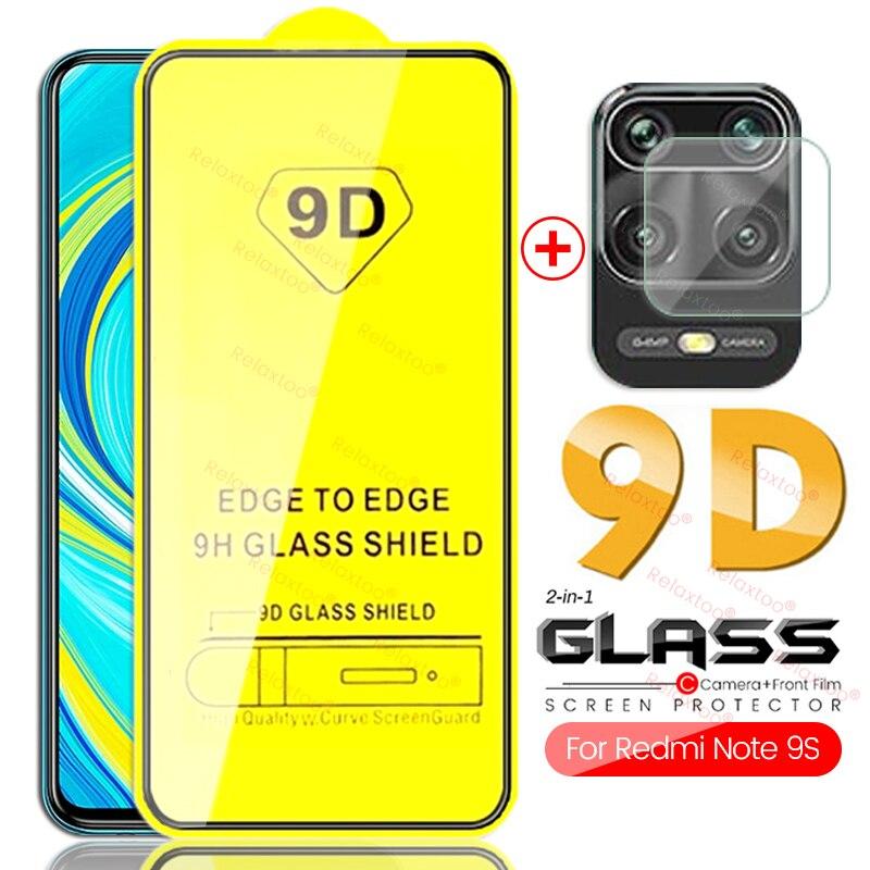 2-in-1 Redmi Note 9s Glass Protective Camera Readmi Note9s Armor Protection Glass For Xiaomi Redmi Note 9 Pro Max 9 S Full Glue