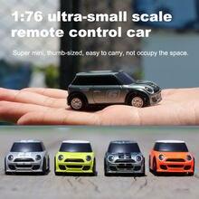 Em estoque tubro racing 1:76 controle de rádio do carro rc 2.4ghz sistema carro de brinquedo com luz chargable para a experiência de corrida ou brinquedos das crianças