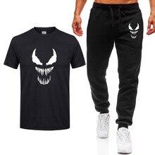 2020 nueva moda MARVEL camiseta de VENOM + Pantalones hombres algod�n manga corta Casual Hombre marvel camisetas