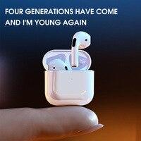 Pro4-auriculares TWS con Bluetooth de 4 Generación, dispositivo de audio deportivo, estéreo, Semi intrauditivo, inalámbrico