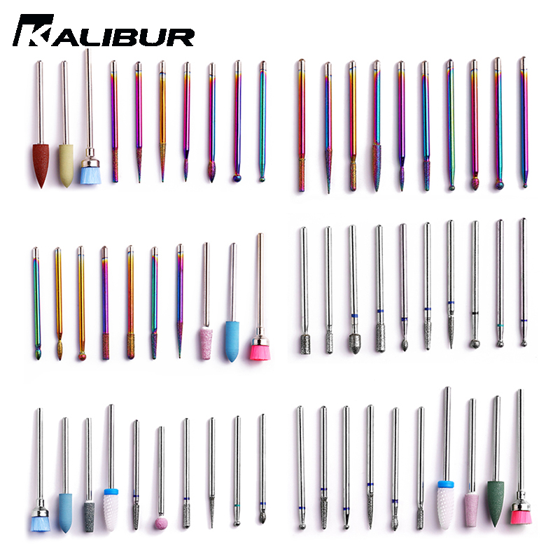 KALIBUR 1 Set Nail  Tip Ceramic Drill Bits Electric Cuticle Clean Rotary For  Pedicure Grinding Head Sander Tool