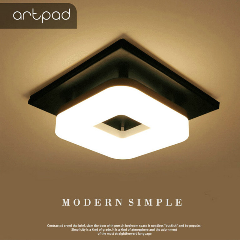 Artpad Modern Flush Mount Ceiling Light Hallway Porch Balcony Lamp Interior Lighting Surface Mounted Square LED Ceiling Lights