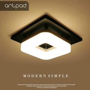 Image 1 - Artpad Modern Flush Mount Ceiling Light Hallway Porch Balcony Lamp Interior Lighting Surface Mounted Square LED Ceiling Lights