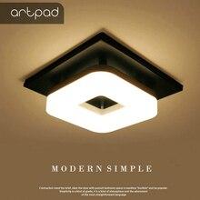 Artpad現代フラッシュマウント天井ライト廊下ポーチバルコニーランプインテリア照明スクエアled天井ライト