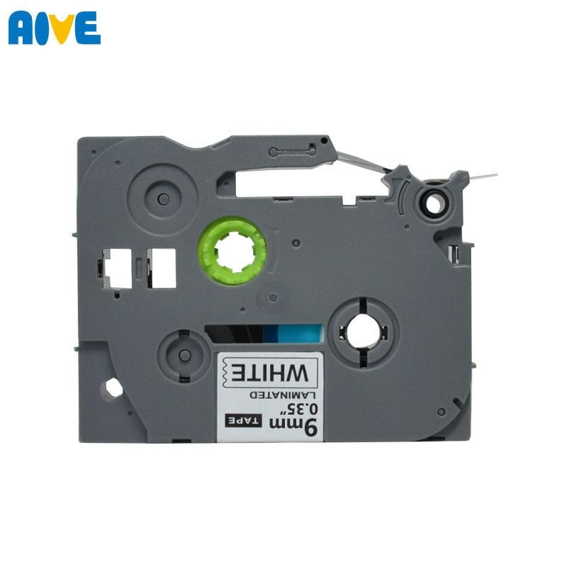 Aive laminated TZe 221 Label Tape Compatible Brother P touch 9mm Printers PT E500W PT E100B