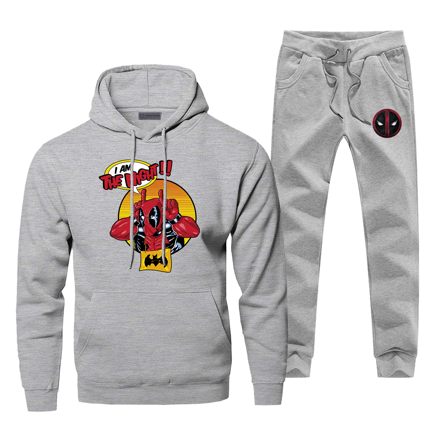 Deadpool Men Hoodies Sweatshirts Pants Sets Dead Pool Hoodie Suit Tracksuit 2 PCS Hoody Pant Sweatshirt Sweatpants Pullover Set
