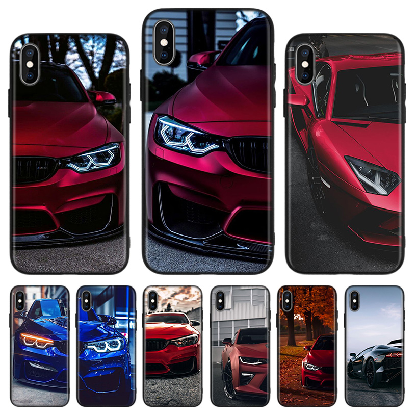 Blue Red <font><b>for</b></font> <font><b>Bmw</b></font> Black Back Cover Phone <font><b>Case</b></font> <font><b>For</b></font> Apple <font><b>IPhone</b></font> 11 Pro XS MAX XR 7 <font><b>8</b></font> 6 6S Plus X 10 Ten 5 5S SE Coque Shell image