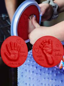 Pad Clay-Kit Souvenirs Fingerprint-Toys Hand-Ink Footprint Casting Non-Toxic DIY Parent-Child