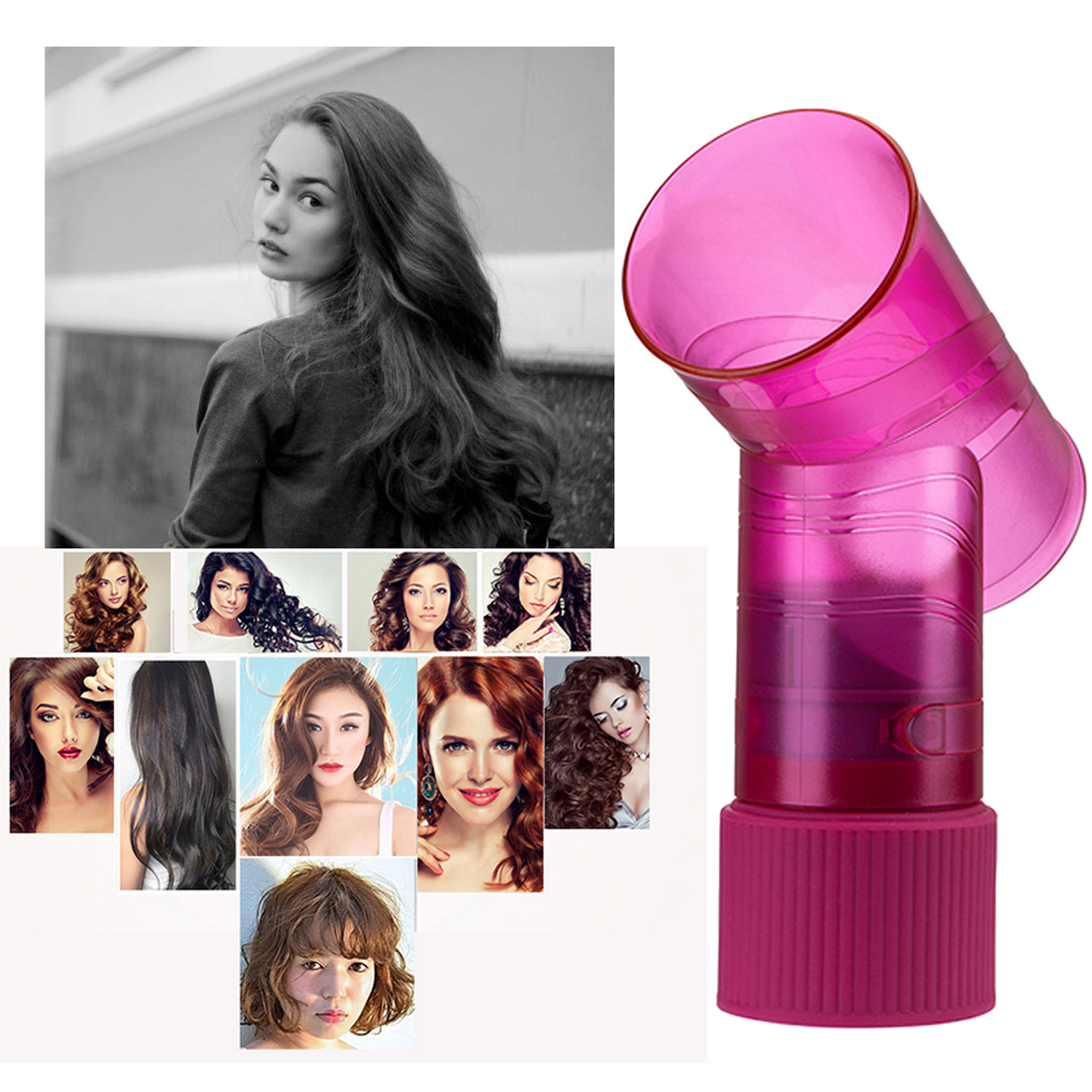 DIY Portable Hair Curly Dryer Blower Diffuser Attachment For Curly Wavy Hair Stylist Hairdresser Salon Hair Curler Styling Tool